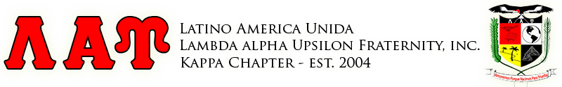 Kappa Chapter of Latino America Unida Lambda Alpha Upsilon Fraternity, Inc.